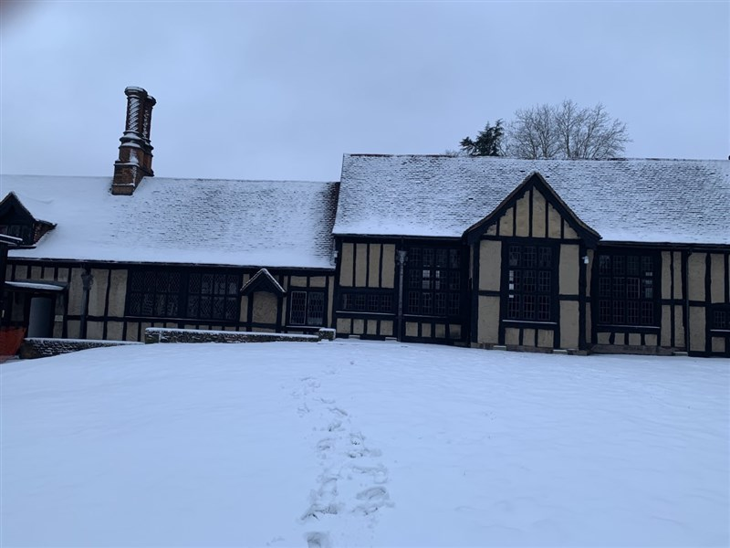Church House in the snow
